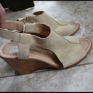 Tan Suede Wedge Sandals